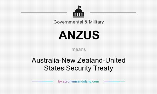 What does ANZUS mean? It stands for Australia-New Zealand-United States Security Treaty