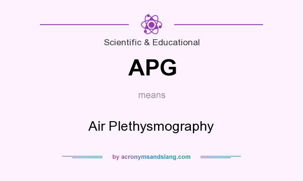 What does APG mean? It stands for Air Plethysmography
