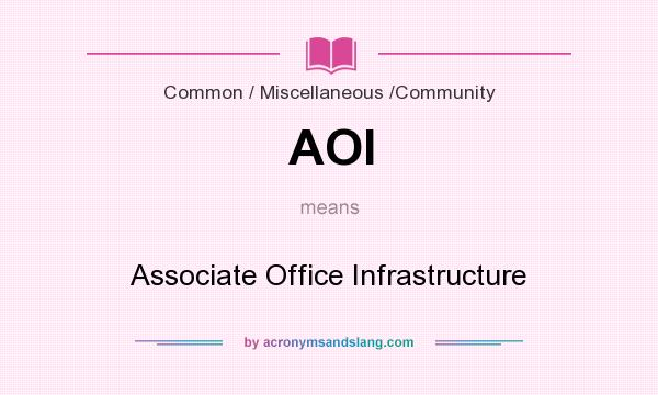 What does AOI mean? It stands for Associate Office Infrastructure