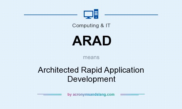 What does ARAD mean? It stands for Architected Rapid Application Development