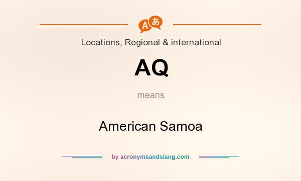 What does AQ mean? It stands for American Samoa