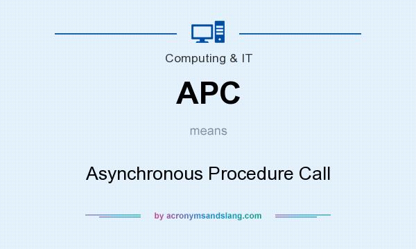 What does APC mean? It stands for Asynchronous Procedure Call