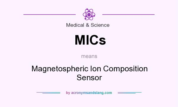 What does MICs mean? It stands for Magnetospheric Ion Composition Sensor