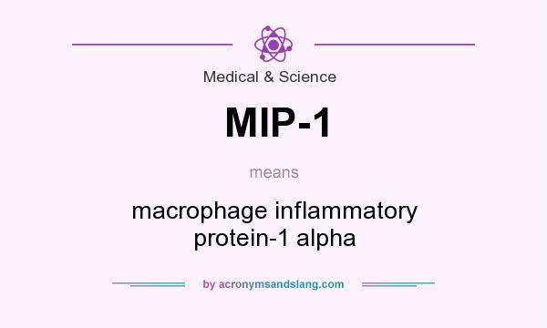 What does MIP-1 mean? It stands for macrophage inflammatory protein-1 alpha
